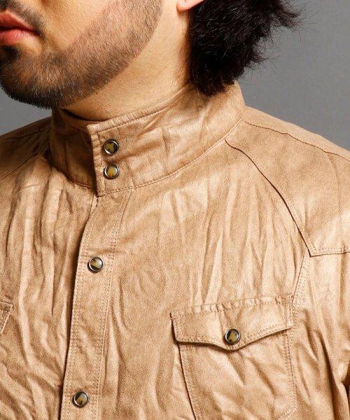 HIDEAWAYS NICOLE L(ハイダウェイニコル(大きいサイズ))/フェイクスウェードシャツ/7404-8003_img03