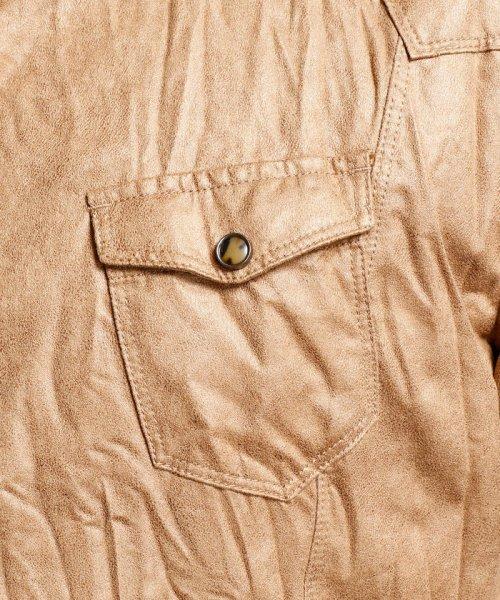 HIDEAWAYS NICOLE L(ハイダウェイニコル(大きいサイズ))/フェイクスウェードシャツ/7404-8003_img04