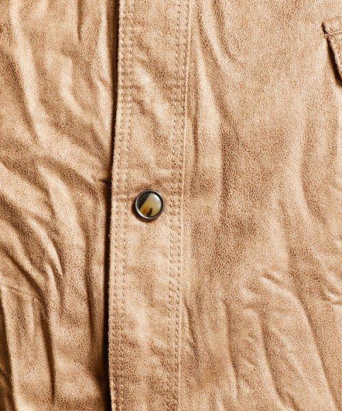 HIDEAWAYS NICOLE L(ハイダウェイニコル(大きいサイズ))/フェイクスウェードシャツ/7404-8003_img05