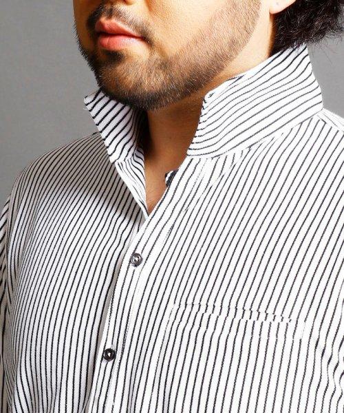 HIDEAWAYS NICOLE L(ハイダウェイニコル(大きいサイズ))/ストライプカットシャツ/7404-9930_img03