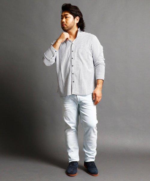 HIDEAWAYS NICOLE L(ハイダウェイニコル(大きいサイズ))/ストライプカットシャツ/7404-9930_img05