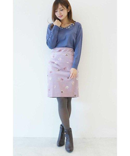 PROPORTION BODY DRESSING(プロポーション ボディドレッシング)/ベロアフラワープリントタイトスカート/1217220509_img19