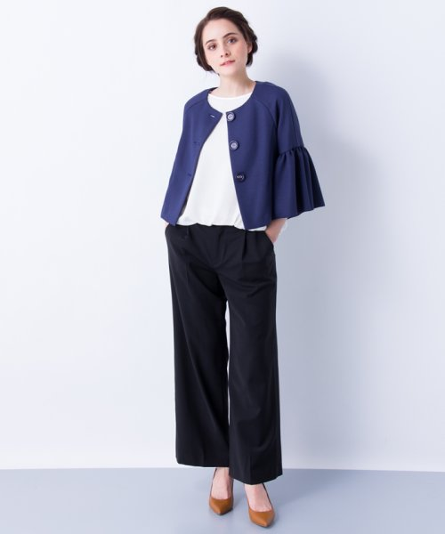 LANVIN en Bleu(ランバン オン ブルー)/【セットアップ対応商品】ボリュームスリーブジャケット/3786206_img04