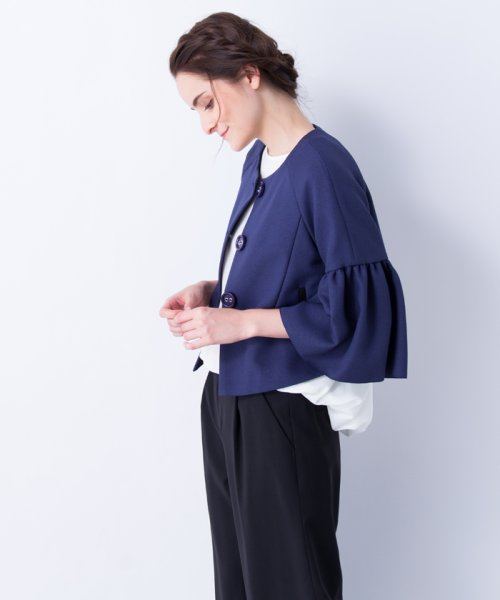 LANVIN en Bleu(ランバン オン ブルー)/【セットアップ対応商品】ボリュームスリーブジャケット/3786206_img05