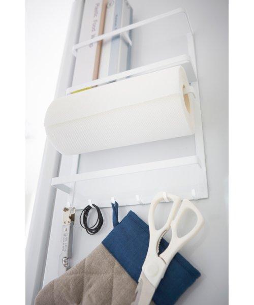 YAMAZAKI(ヤマザキ)/マグネット冷蔵庫サイドラック プレート ホワイト/2907_img03