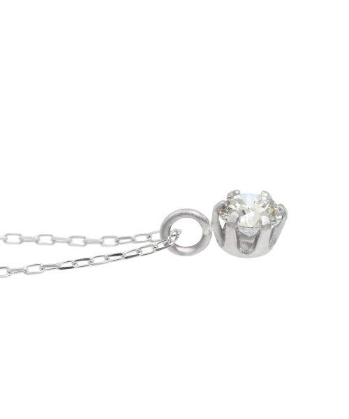 JEWELRY SELECTION(ジュエリーセレクション)/天然ダイヤモンド 0.1ct VSクラス 6本爪ネックレス 鑑定書付 あずき40cm/NSII01CTVSA40PT_img03