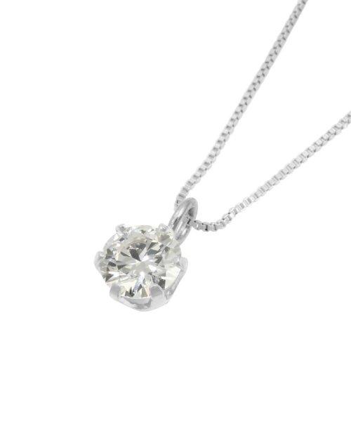 JEWELRY SELECTION(ジュエリーセレクション)/天然ダイヤモンド 0.2ct VSクラス 6本爪ネックレス 鑑定書付 ベネチアン40cm/NSII02CTVSBN40PT_img01