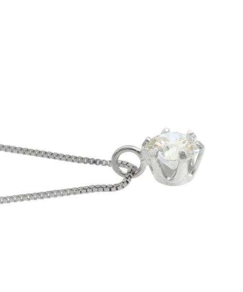JEWELRY SELECTION(ジュエリーセレクション)/天然ダイヤモンド 0.2ct VSクラス 6本爪ネックレス 鑑定書付 ベネチアン40cm/NSII02CTVSBN40PT_img03