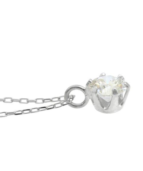JEWELRY SELECTION(ジュエリーセレクション)/天然ダイヤモンド 0.2ct VVSクラス 6本爪ネックレス 鑑定書付 あずき40cm/NSII02CTVVSA40PT_img03