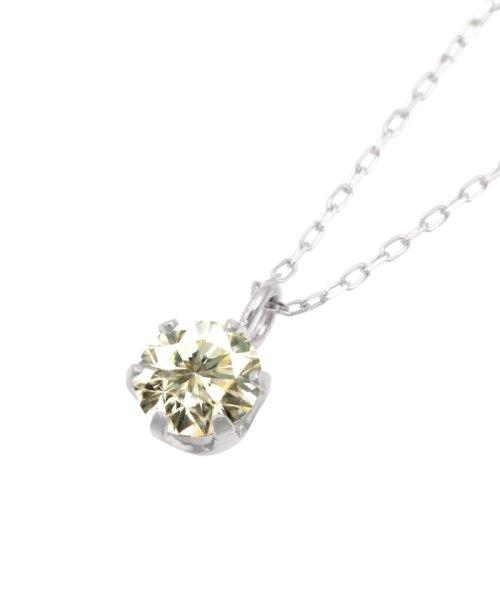 JEWELRY SELECTION(ジュエリーセレクション)/天然ダイヤモンド 0.3ct SIクラス ネックレス 鑑定書付 K18WG あずき40cm/NSII03CTSIA40K18WG_img01
