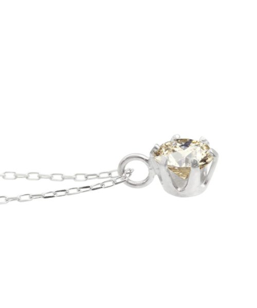 JEWELRY SELECTION(ジュエリーセレクション)/天然ダイヤモンド 0.3ct SIクラス ネックレス 鑑定書付 K18WG あずき40cm/NSII03CTSIA40K18WG_img03