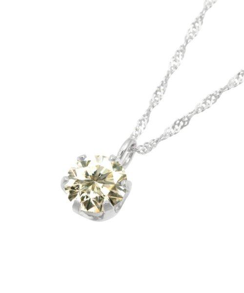 JEWELRY SELECTION(ジュエリーセレクション)/天然ダイヤモンド 0.3ct SIクラス ネックレス 鑑定書付 K18WG スクリュー42cm/NSII03CTSIS42K18WG_img01