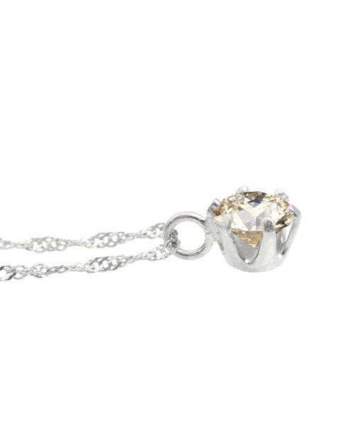 JEWELRY SELECTION(ジュエリーセレクション)/天然ダイヤモンド 0.3ct SIクラス ネックレス 鑑定書付 K18WG スクリュー42cm/NSII03CTSIS42K18WG_img03