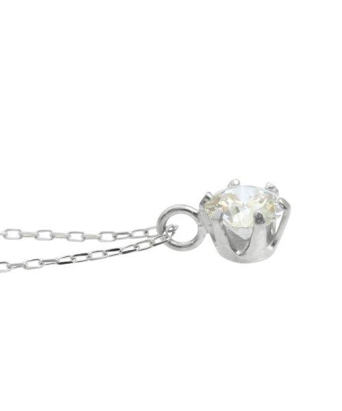 JEWELRY SELECTION(ジュエリーセレクション)/天然ダイヤモンド 0.3ct VSクラス 6本爪ネックレス 鑑定書付 あずき40cm/NSII03CTVSA40PT_img03