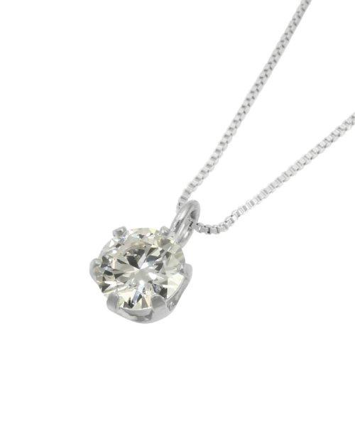 JEWELRY SELECTION(ジュエリーセレクション)/天然ダイヤモンド 0.3ct VSクラス 6本爪ネックレス 鑑定書付 ベネチアン40cm/NSII03CTVSBN40PT_img03