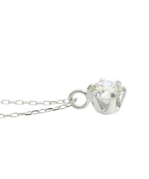 JEWELRY SELECTION(ジュエリーセレクション)/天然ダイヤモンド 0.3ct VVSクラス 6本爪ネックレス 鑑定書付 あずき40cm/NSII03CTVVSA40PT_img03