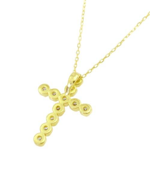 JEWELRY SELECTION(ジュエリーセレクション)/K18YG 天然ダイヤモンド 11石 0.2ct クロスネックレス/NSUZ1175302CTA40K18YG_img05