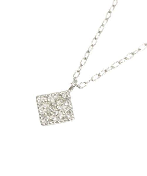 JEWELRY SELECTION(ジュエリーセレクション)/天然ダイヤモンド 5石 プラチナ ネックレス 菱形/NSUZ12204005CTA40PT_img01