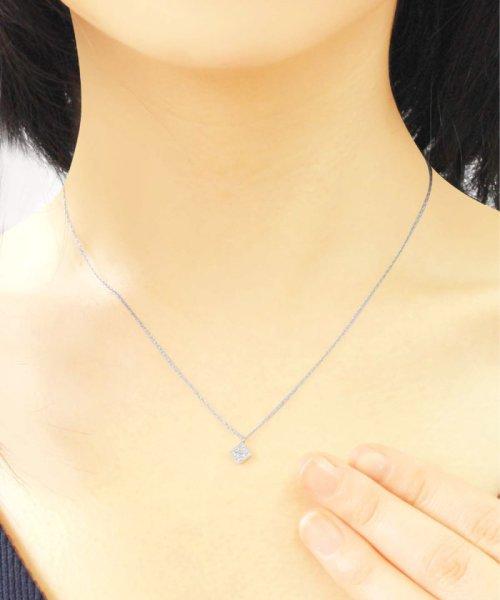 JEWELRY SELECTION(ジュエリーセレクション)/天然ダイヤモンド 5石 プラチナ ネックレス 菱形/NSUZ12204005CTA40PT_img02
