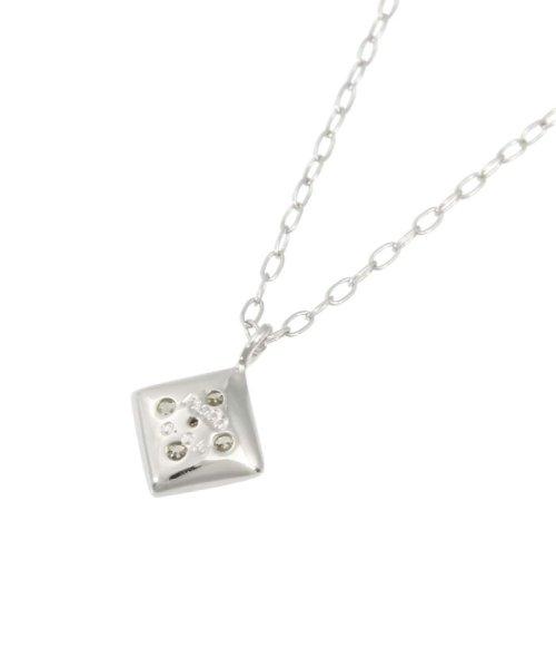 JEWELRY SELECTION(ジュエリーセレクション)/天然ダイヤモンド 5石 プラチナ ネックレス 菱形/NSUZ12204005CTA40PT_img04