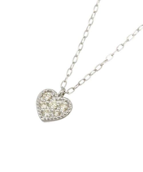 JEWELRY SELECTION(ジュエリーセレクション)/天然ダイヤモンド 6石 プラチナ ネックレス ハート/NSUZ12205005CTA40PT_img02