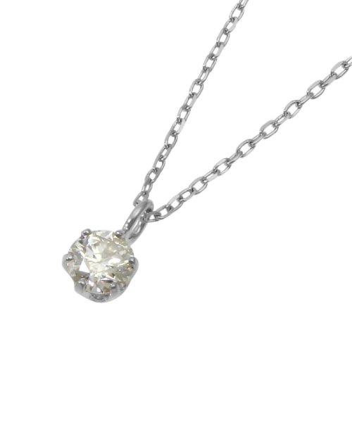 JEWELRY SELECTION(ジュエリーセレクション)/K18WG 天然ダイヤモンド 0.1ct SIクラス ペンダント鑑別書付/NSUZ797901CTHSIK18WG_img04