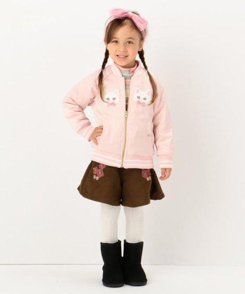 anyFAM(KIDS)(エニファム(キッズ))/【KIDS】ねこモチーフサテン スタジャン/JRFKHW0425_img05