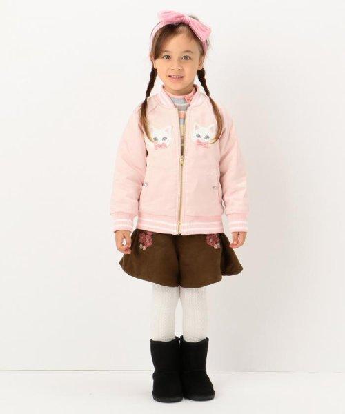 anyFAM(KIDS)(エニファム(キッズ))/【KIDS】ねこモチーフサテン スタジャン/JRFKHW0425_img06