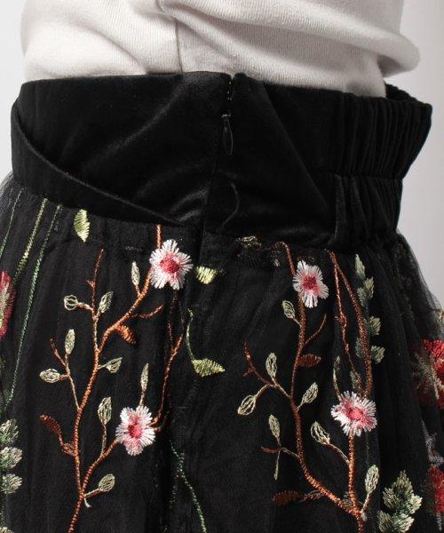 Bou Jeloud(ブージュルード)/カラフルフラワー刺繍チュールスカート/673029_img18