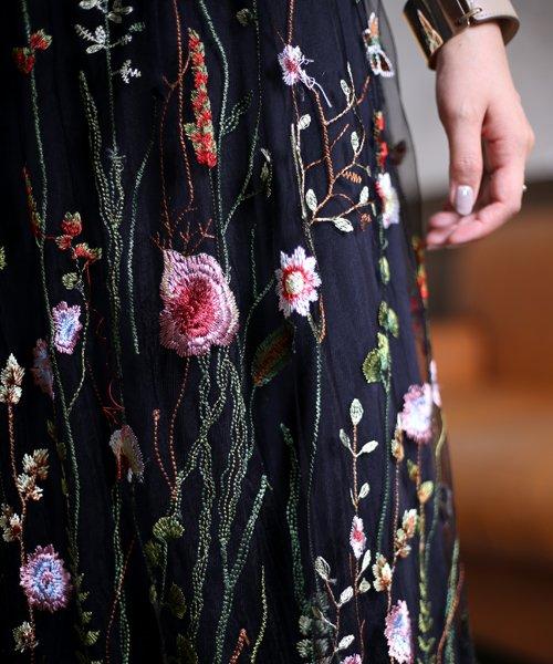 Bou Jeloud(ブージュルード)/カラフルフラワー刺繍チュールスカート/673029_img07