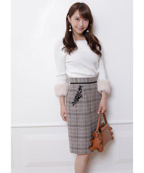Apuweiser-riche(アプワイザー リッシェ)/【andGIRL 11月号掲載】ポケット刺繍チェックタイトスカート/27432820_img05