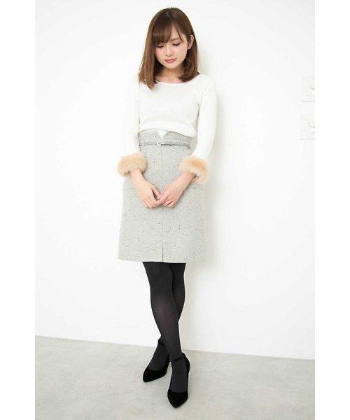 PROPORTION BODY DRESSING(プロポーション ボディドレッシング)/ネップツィードタイトスカート/1218120002_img02