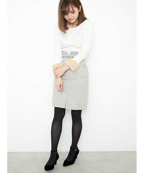 PROPORTION BODY DRESSING(プロポーション ボディドレッシング)/ネップツィードタイトスカート/1218120002_img03
