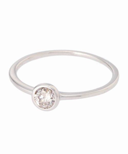 DECOUVERTE(デクーヴェルト)/18KWG 0.2ct ダイヤモンド Fリング/17111895502630_img01