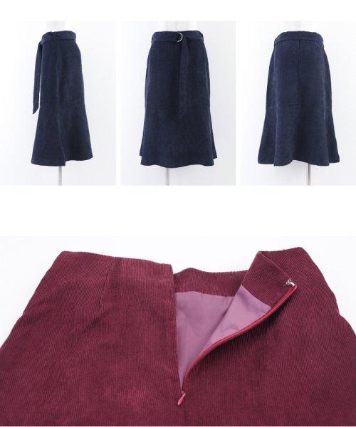 ur's(ユアーズ)/ベルト付裾フレアコーデュロイスカート/BQXU0273_img05