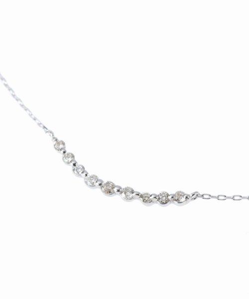 DECOUVERTE(デクーヴェルト)/18KWG 0.1ct ダイヤモンド ネックレス/17110895503530_img04