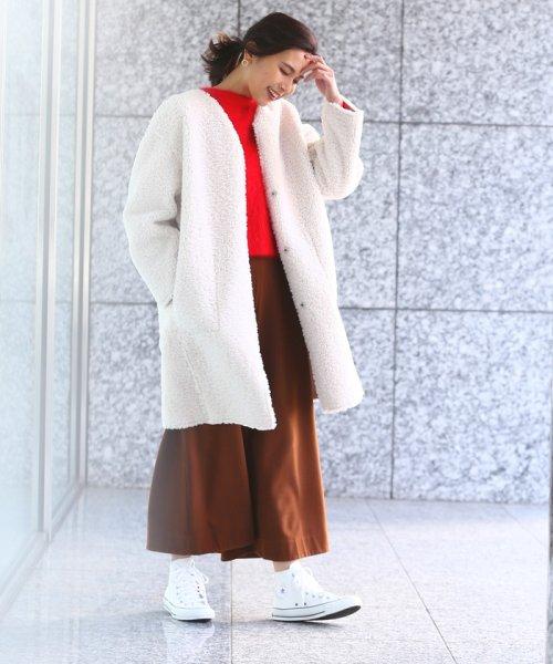 ROPE' mademoiselle(ロペ マドモアゼル)/【2WAY】フェイクスエードボアノーカラーコート/GWO4720_img17