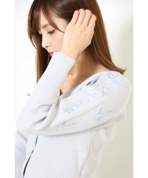 PROPORTION BODY DRESSING(プロポーション ボディドレッシング)/刺繍Vリブカーデニットアップワンピース/1217240510_img05
