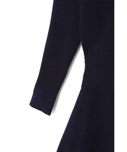 PROPORTION BODY DRESSING(プロポーション ボディドレッシング)/刺繍Vリブカーデニットアップワンピース/1217240510_img10