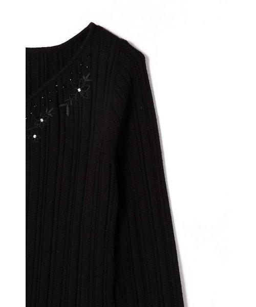 PROPORTION BODY DRESSING(プロポーション ボディドレッシング)/モール刺繍リブニット/1217270107_img03