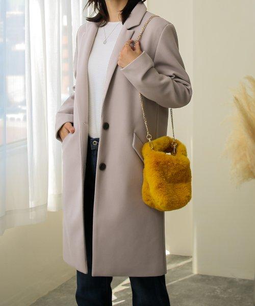 SocialGIRL(ソーシャルガール)/セミロング丈チェスターコート/145512-41_img01