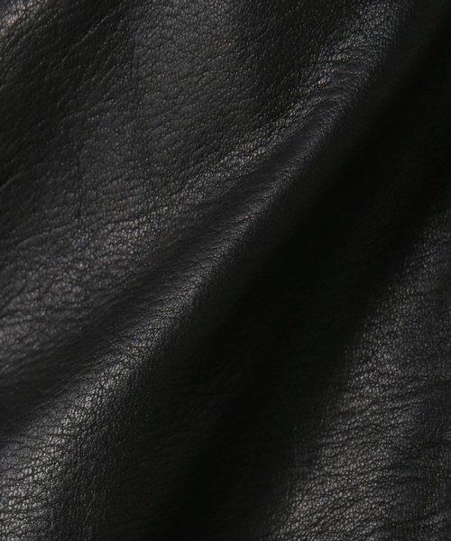 NOBLE(スピック&スパン ノーブル)/【2018SS追加】ソフトラムレザーライダースブルゾン◆/18011240700010_img24