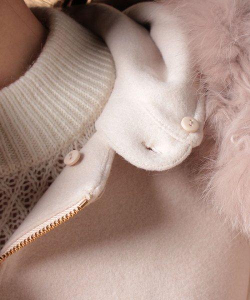 Piccola Donna(ピッコラドンナ)/【Minskatt】メルトンポケットファー付きコート/1749705P_img07