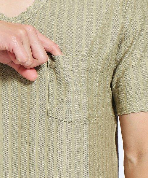 ABAHOUSE(ABAHOUSE)/鹿の子サッカーストライプVネックTシャツ/00341021204_img07