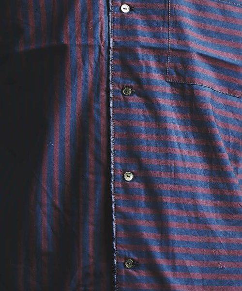 ABAHOUSE(ABAHOUSE)/ストライプパイピングオープンカラーシャツ/00350011021_img05