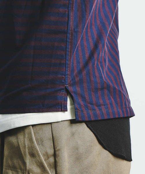 ABAHOUSE(ABAHOUSE)/ストライプパイピングオープンカラーシャツ/00350011021_img08