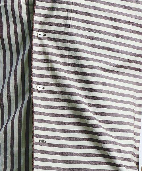 ABAHOUSE(ABAHOUSE)/ストライプパイピングオープンカラーシャツ/00350011021_img11