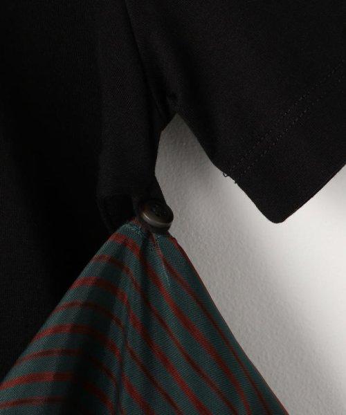 NOLLEY'S sophi(ノーリーズソフィー)/【MM6 Maison Margiela/エムエム 6 メゾン マルジェラ】布帛コンビチュニックTee/70211103005_img08