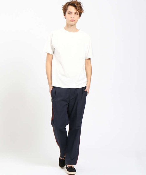 ABAHOUSE(ABAHOUSE)/【COTTON LYCRA】圧着クルーネックTシャツ/00340021010_img01