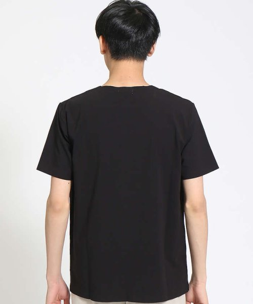ABAHOUSE(ABAHOUSE)/【COTTON LYCRA】圧着クルーネックTシャツ/00340021010_img03